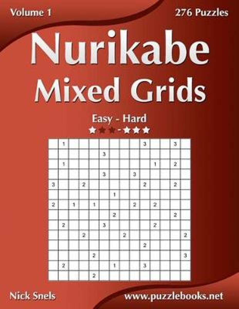 Nurikabe Mixed Grids - Easy to Hard - Volume 1 - 276 Puzzles