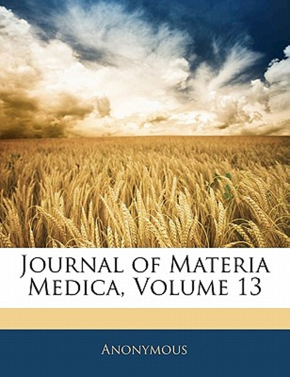 Journal of Materia Medica, Volume 13