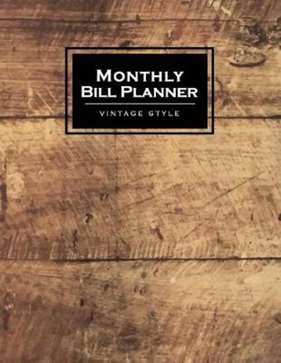 Monthly Bill Planner Vintage Style