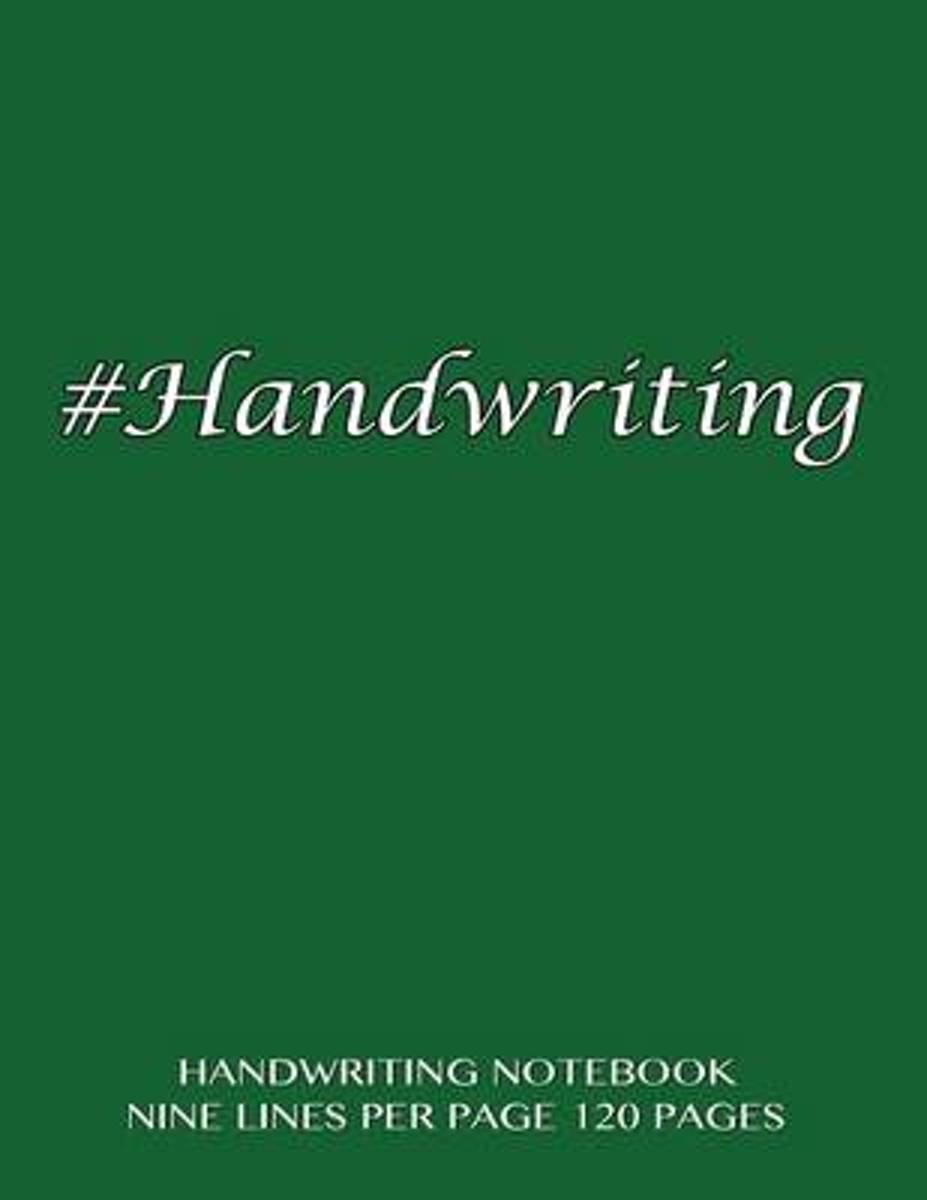Handwriting Notebook - Nine Lines Per Page, 120 Pages