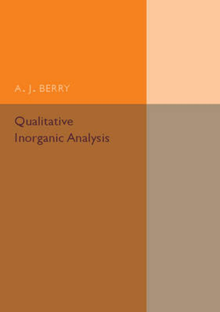 Qualitative Inorganic Analysis