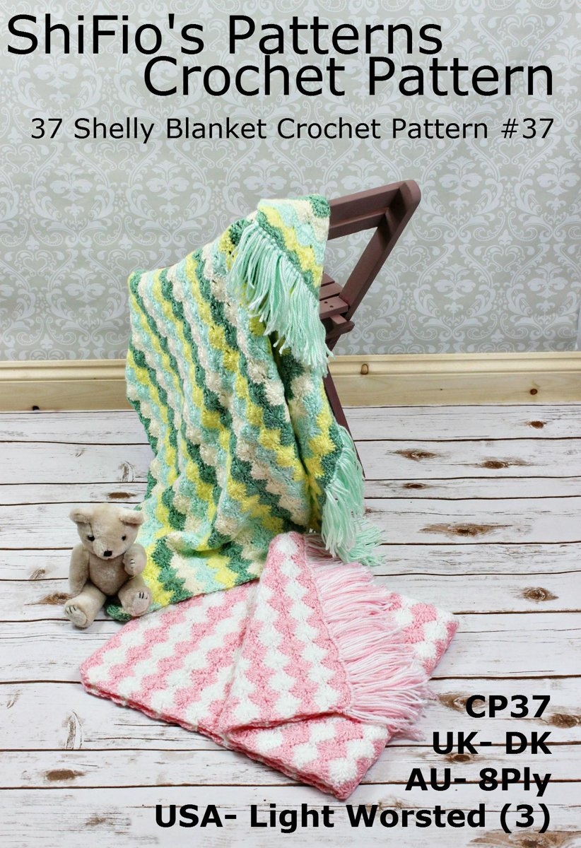 37 Shelly Blanket Crochet Pattern #37