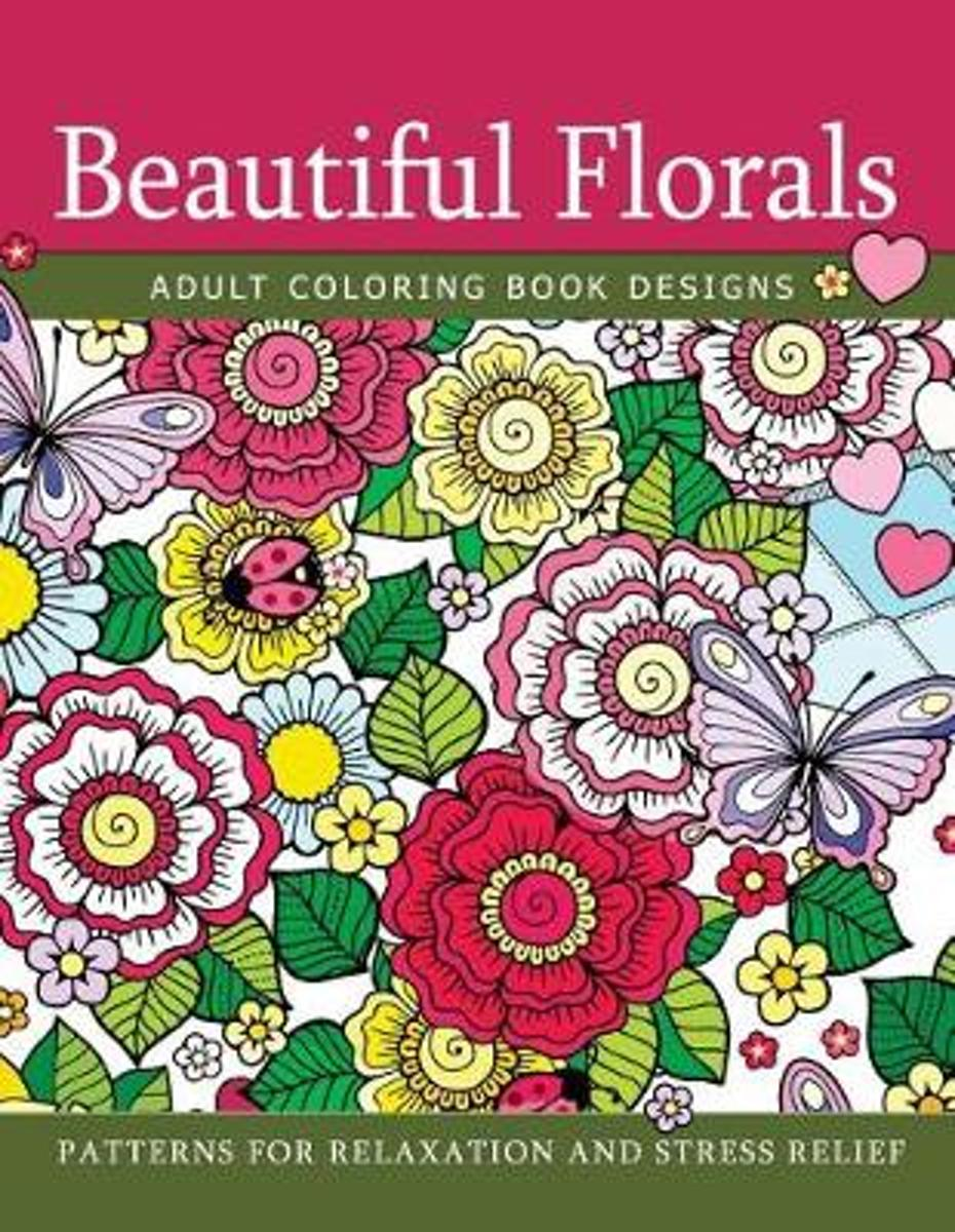 Beautiful Florals Adult Coloring Book Designs