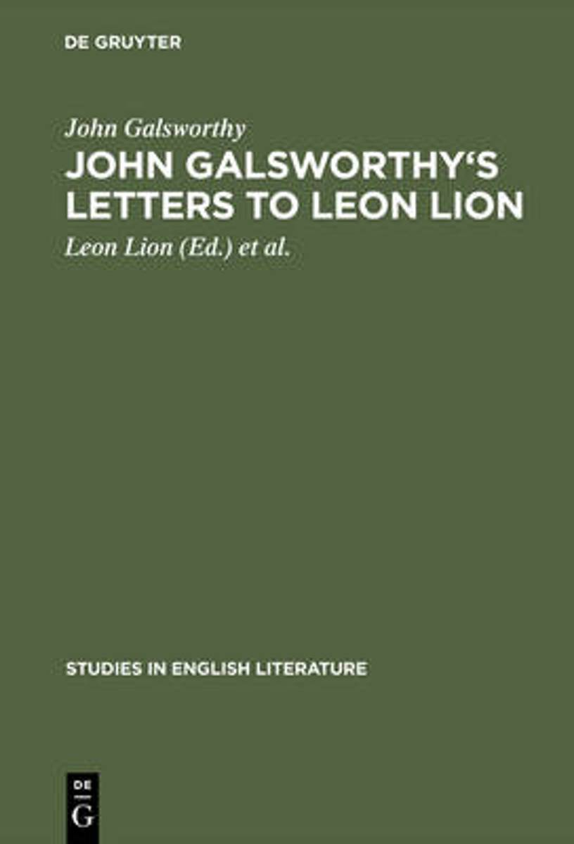 John Galsworthy's letters to Leon Lion