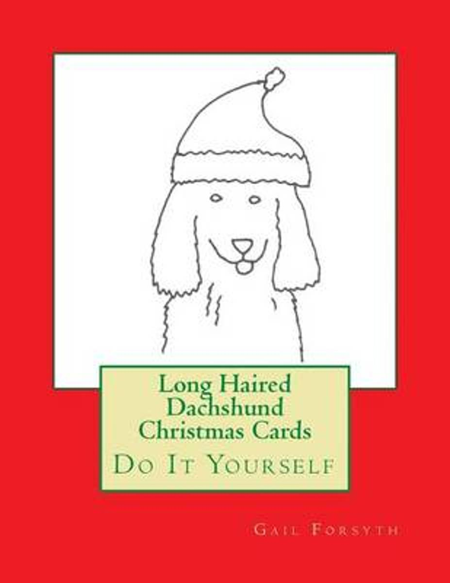 Long Haired Dachshund Christmas Cards