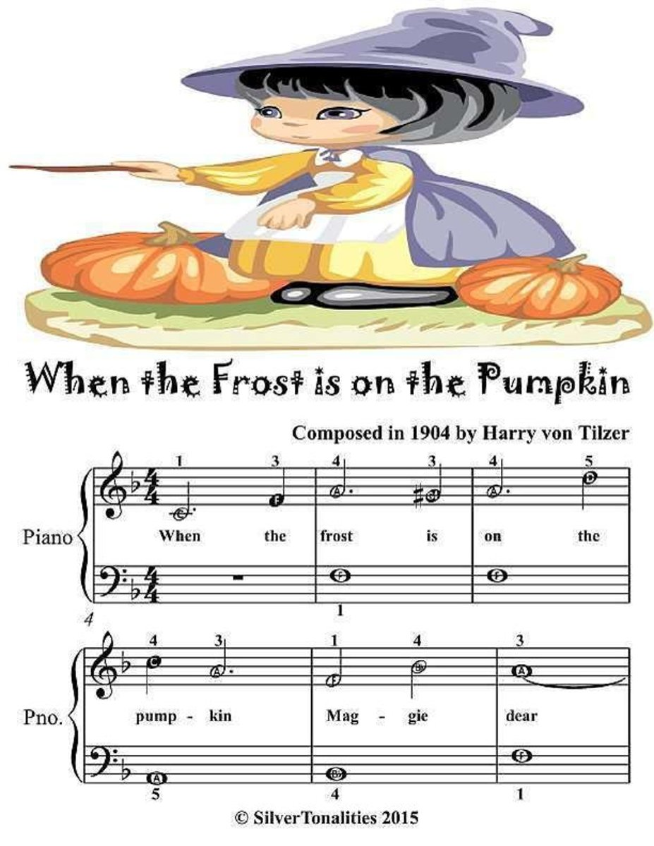 When the Frost Is On the Pumpkin - Easiest Piano Sheet Music Junior Edition
