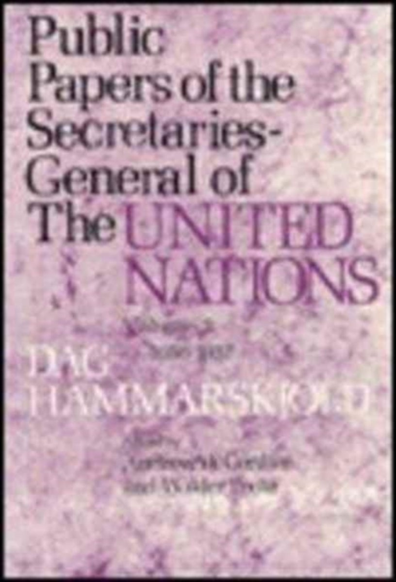 Public Papers of the Secretaries General of the United Nations