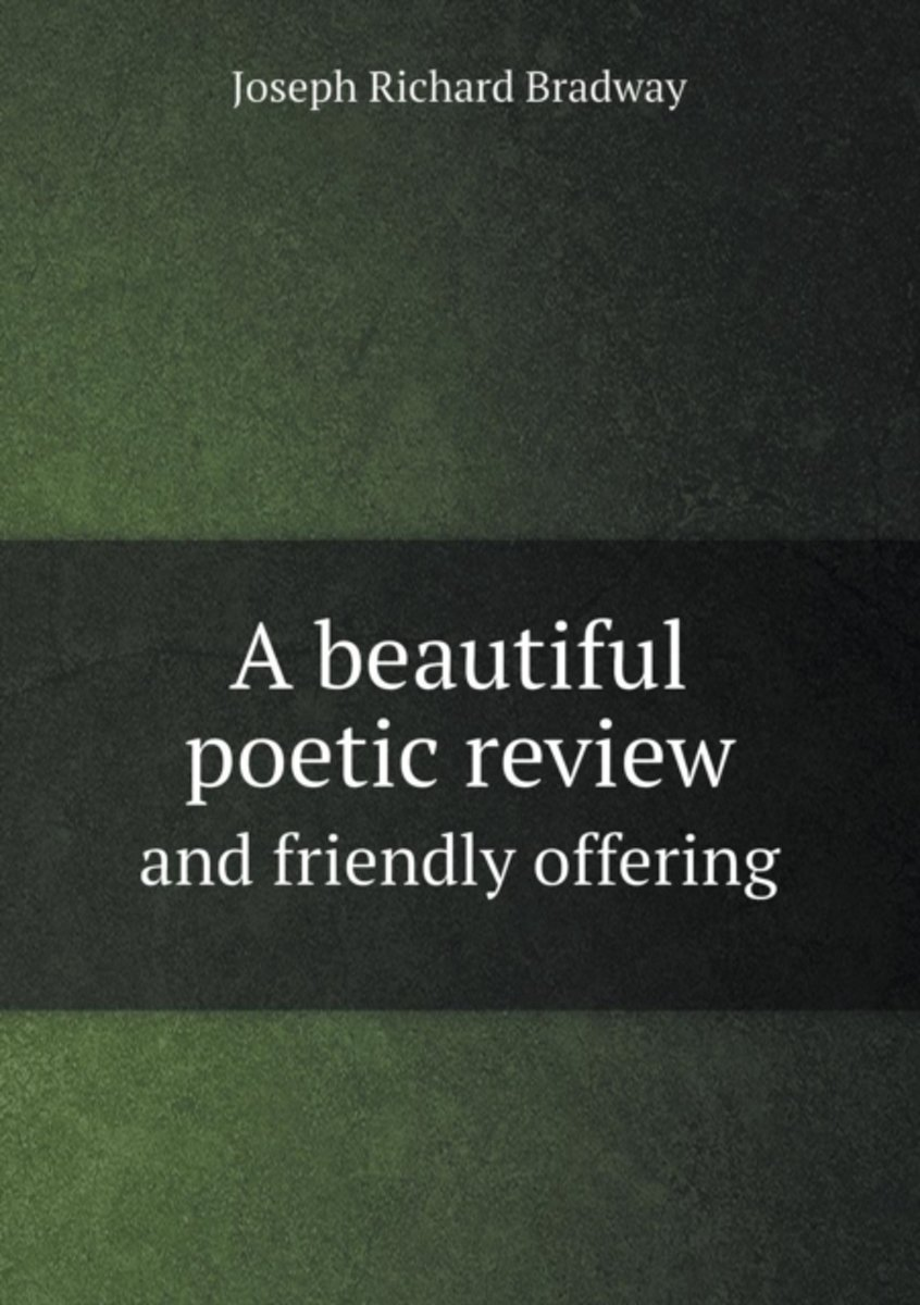 A Beautiful Poetic Review and Friendly Offering