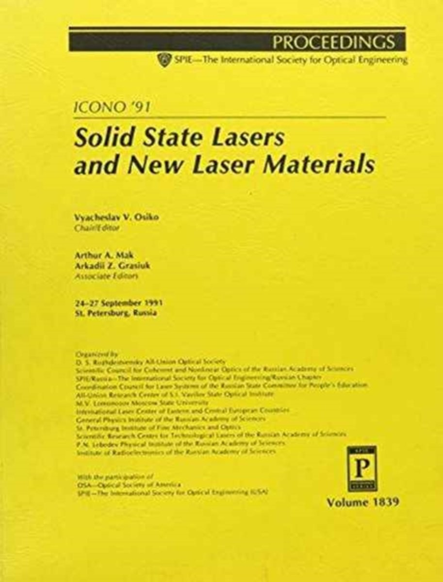Solid State Lasers & New Laser Materials