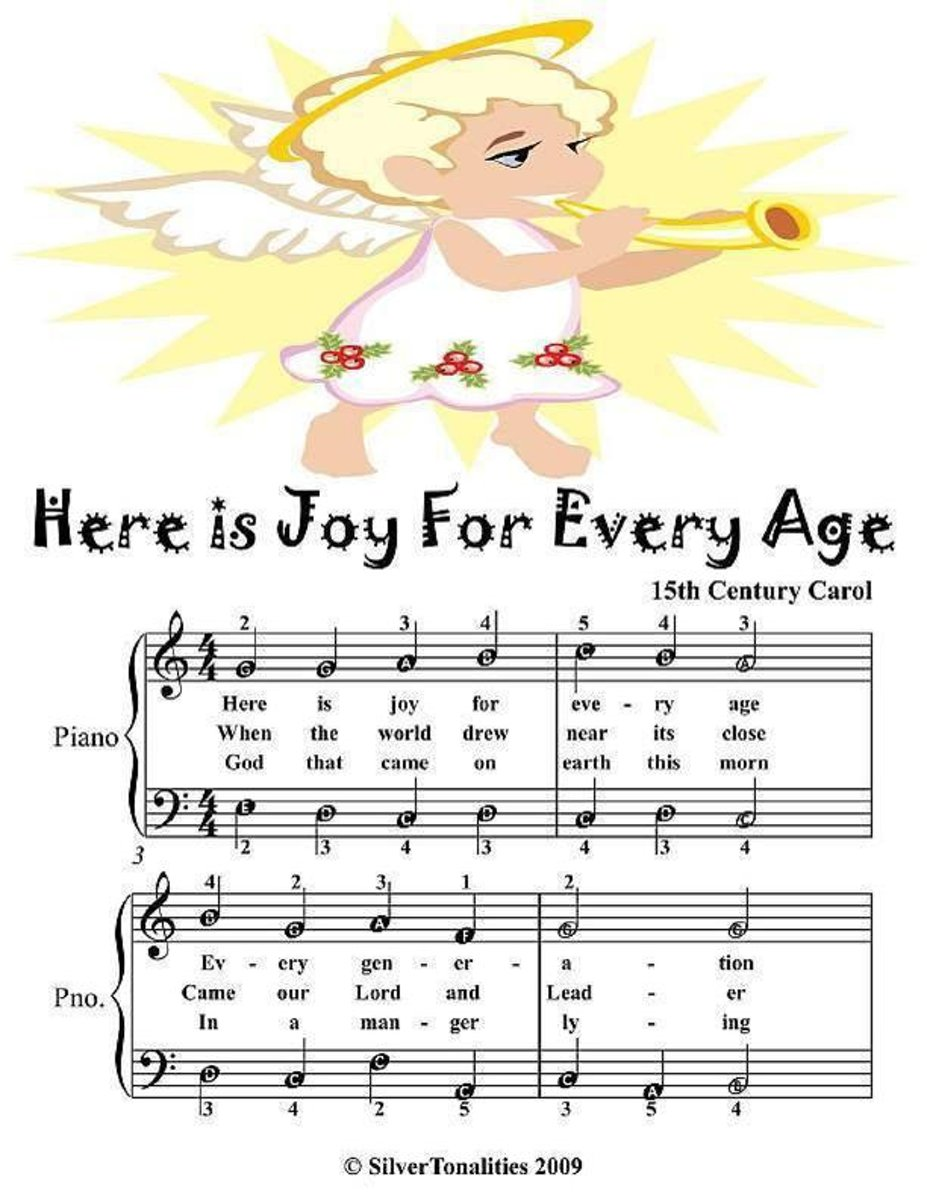 Here Is Joy for Every Age - Easy Piano Sheet Music Junior Edition