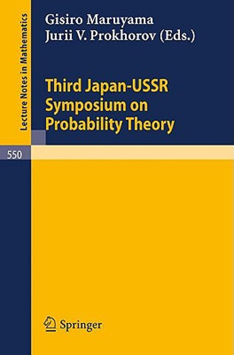 Proceedings of the Third Japan-USSR Symposium on Probability Theory