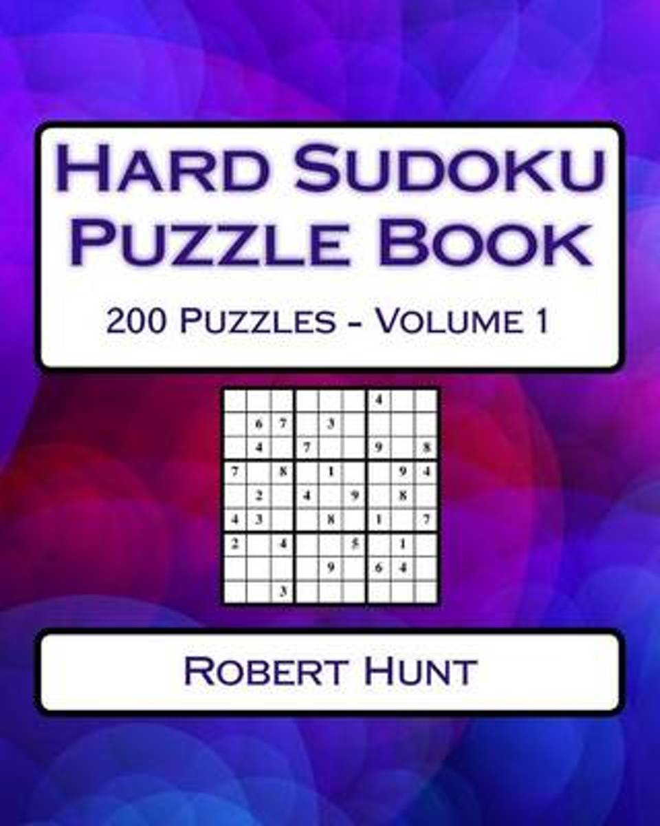 Hard Sudoku Puzzle Book Volume 1