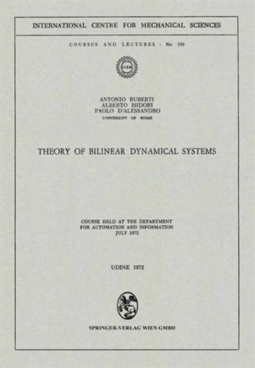 Theory of Bilinear Dynamical Systems