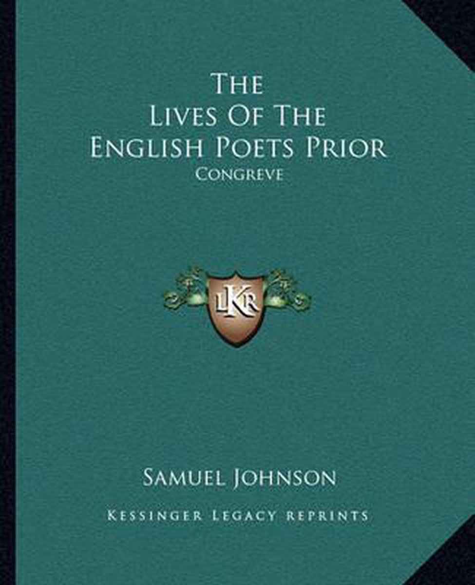 The Lives of the English Poets Prior