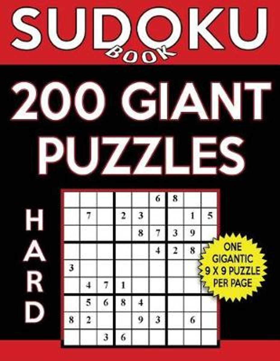 Sudoku Book 200 Hard Giant Puzzles