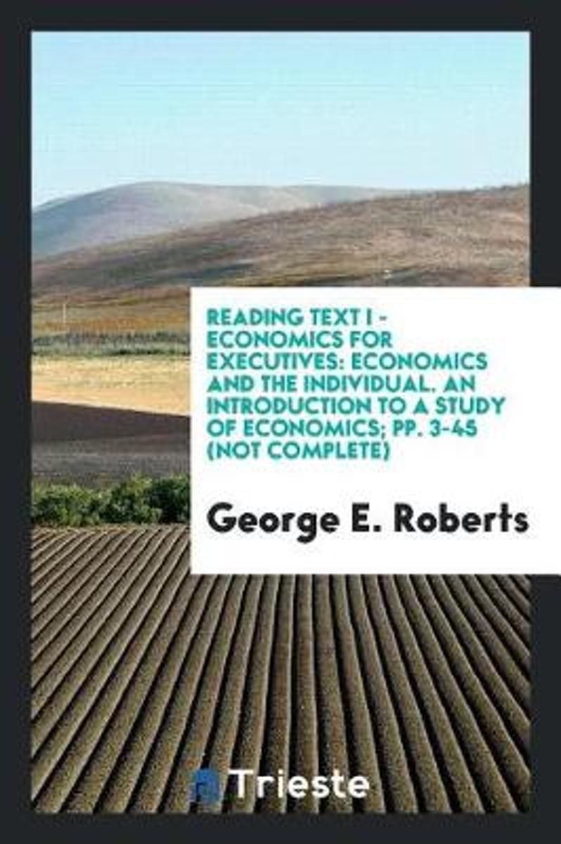 Reading Text I - Economics for Executives