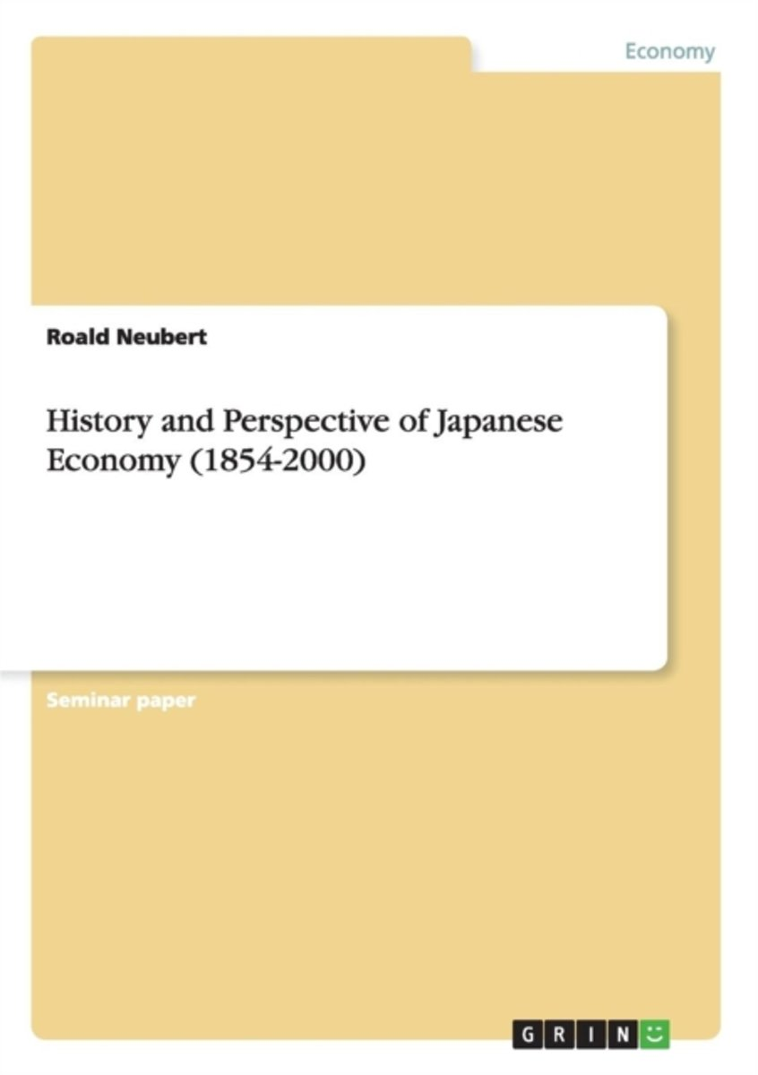 History and Perspective of Japanese Economy (1854-2000)