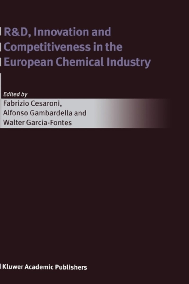 R&D, Innovation and Competitiveness in the European Chemical Industry