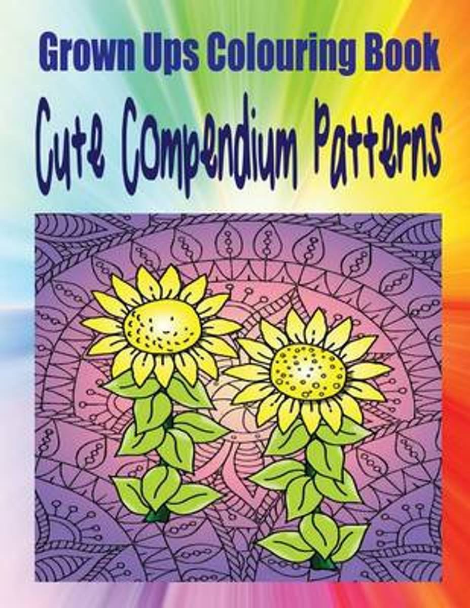 Grown Ups Colouring Book Cute Compendium Patterns