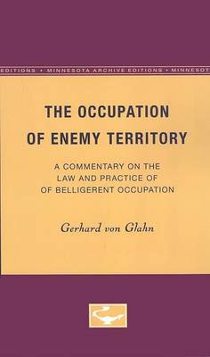 The Occupation of Enemy Territory