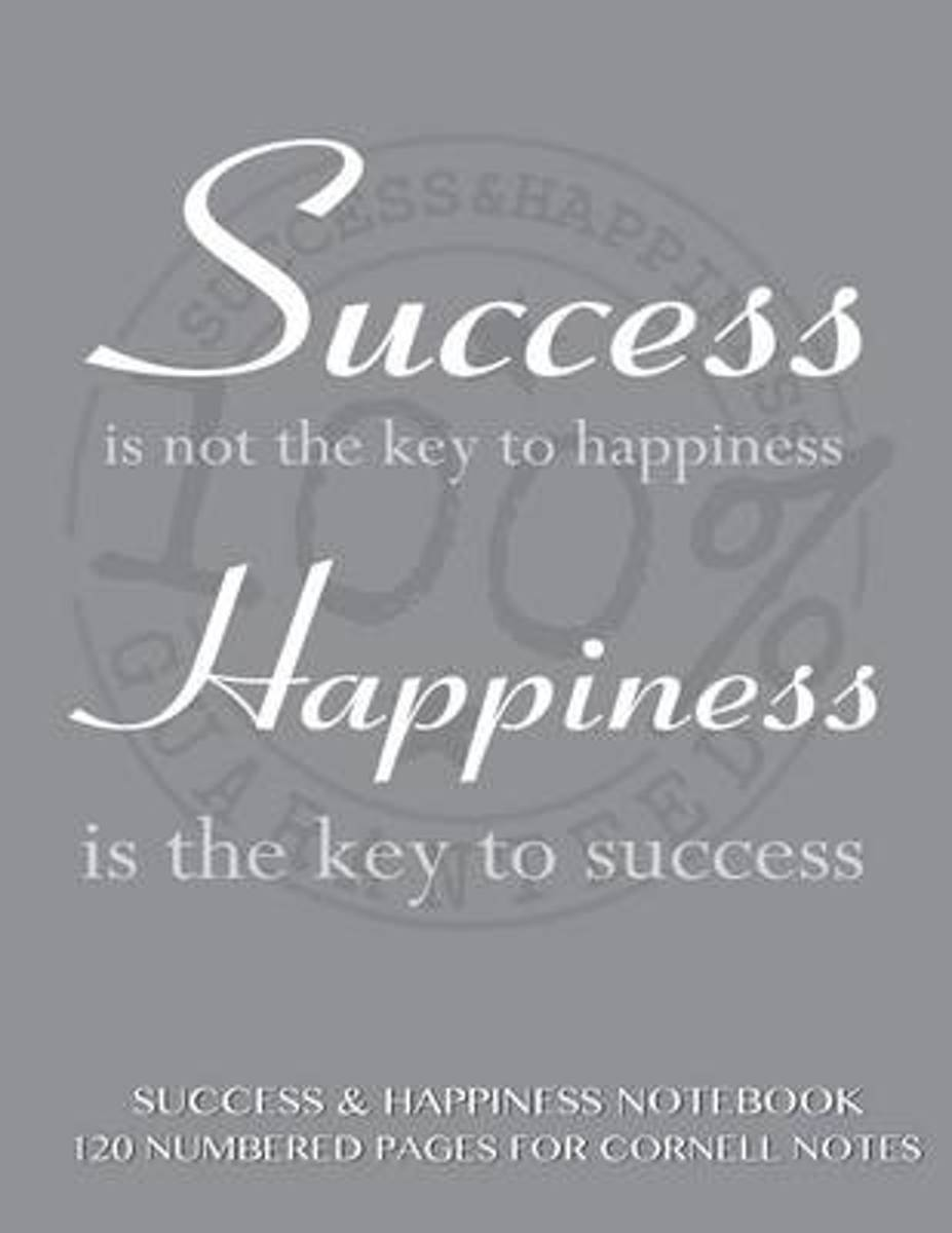 Success and Happiness Notebook 120 Numbered Pages for Cornell Notes