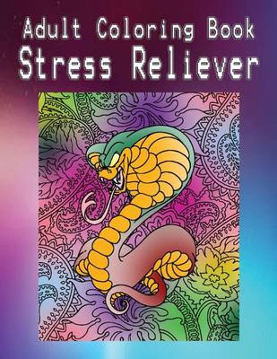 Adult Coloring Book Stress Reliever