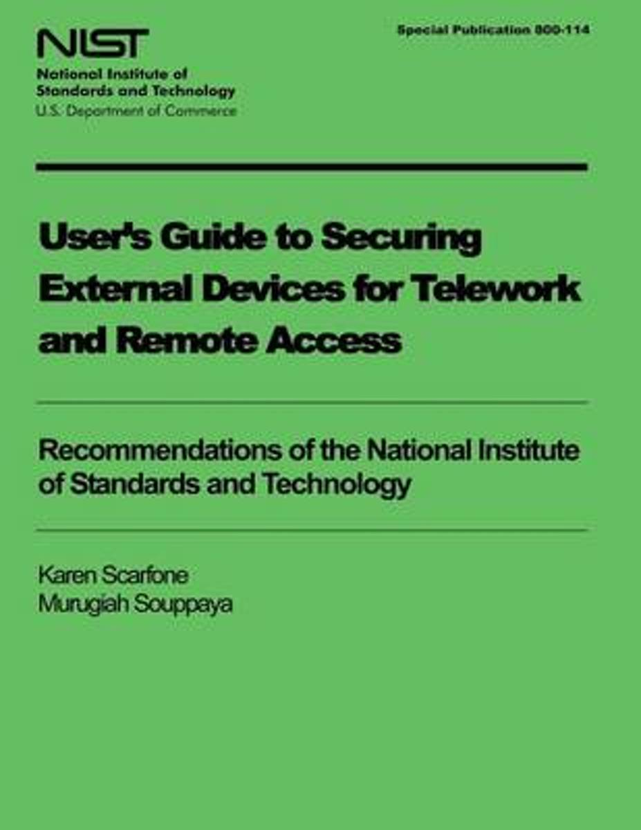 User's Guide to Securing External Devices for Telework and Remote Access