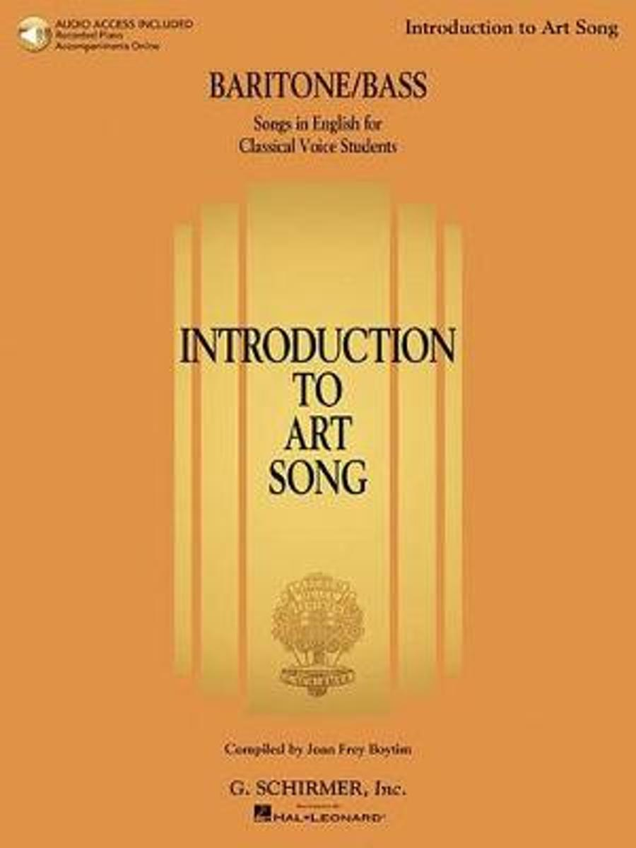 Introduction To Art Song For Baritone/Bass (Book/Online Audio)