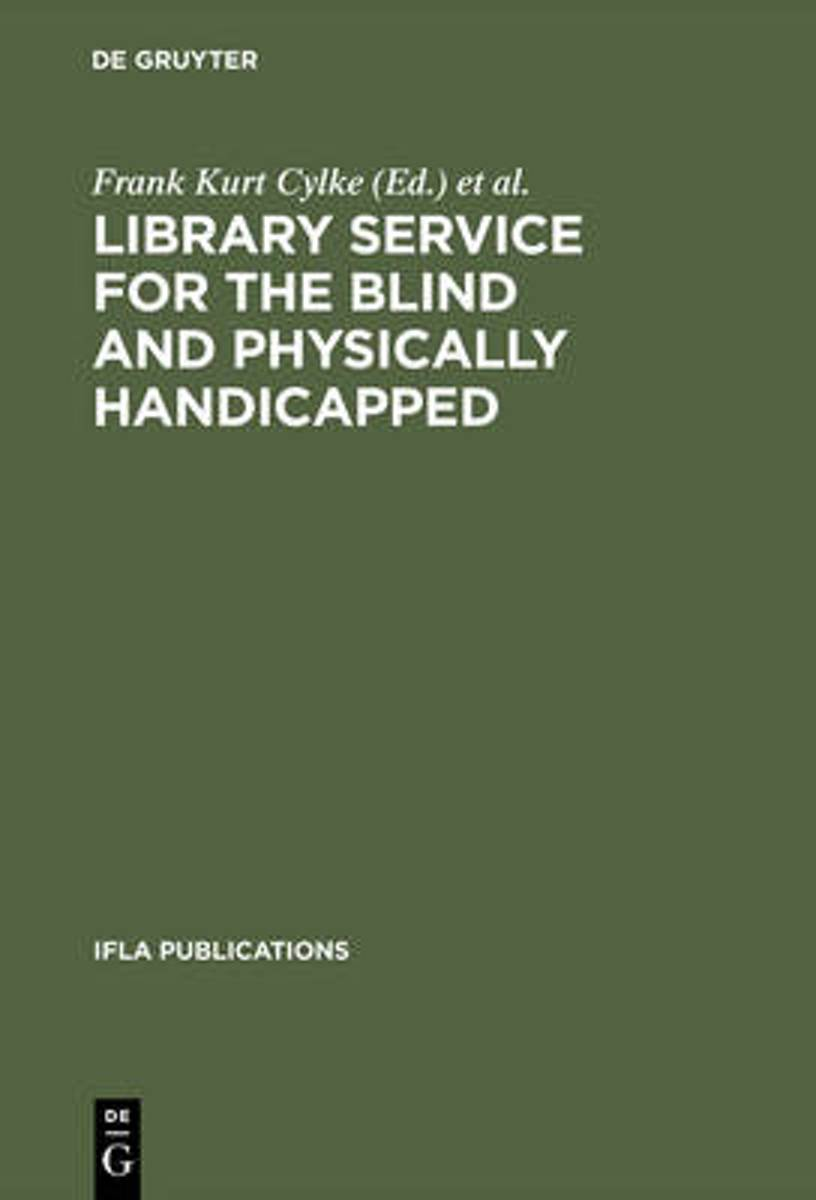 Library service for the blind and physically handicapped