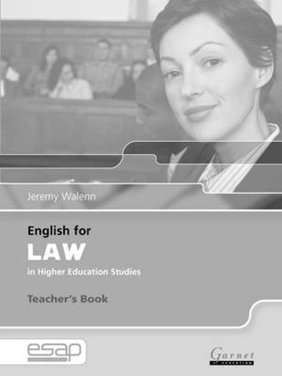 English for Law Teacher Book