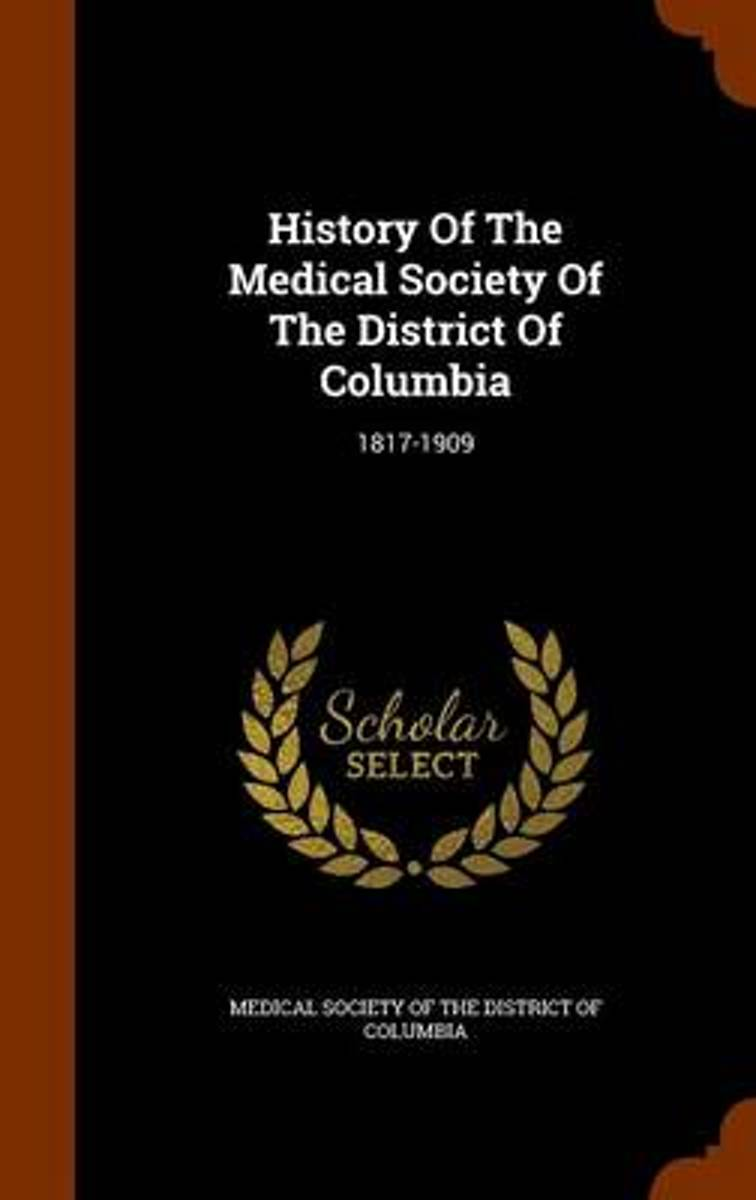 History of the Medical Society of the District of Columbia