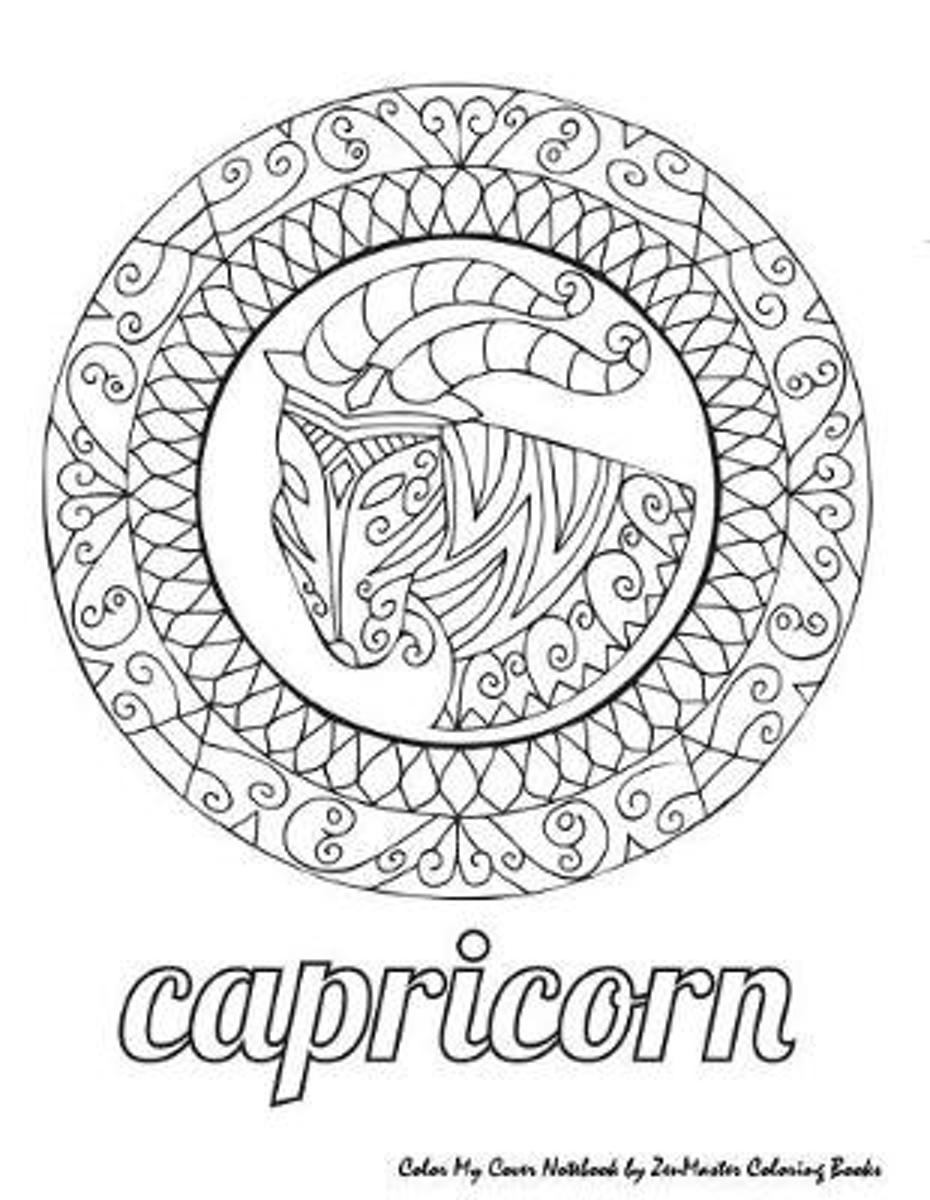 Color My Cover Notebook (Capricorn)