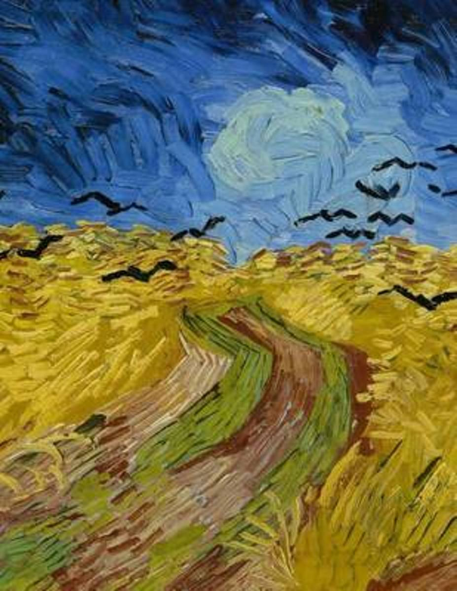 Wheatfield with Crows, Vincent Van Gogh. Blank Journal