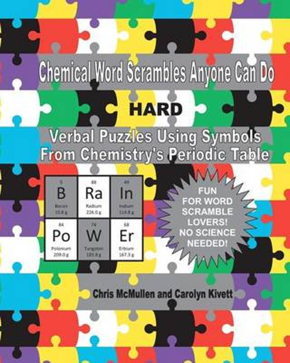 Chemical Word Scrambles Anyone Can Do (Hard)