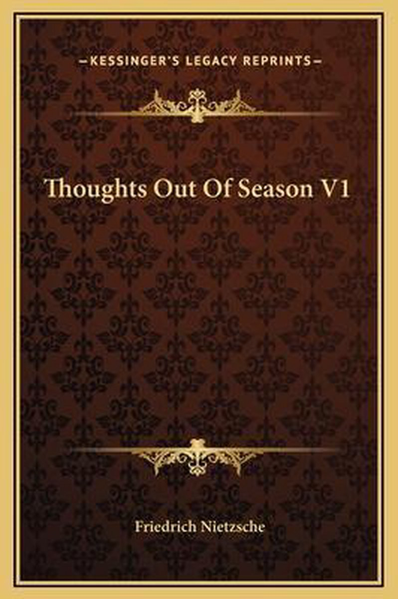 Thoughts Out of Season V1