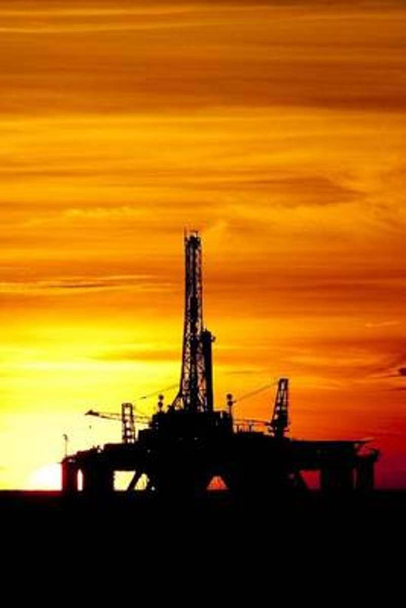 Oil Rig at Sunset Off the Coast of Brazil Journal