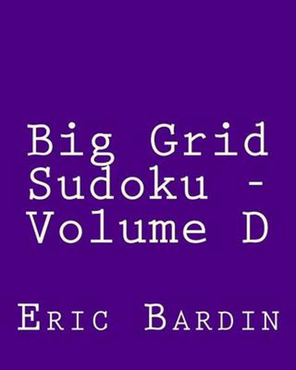 Big Grid Sudoku - Volume D
