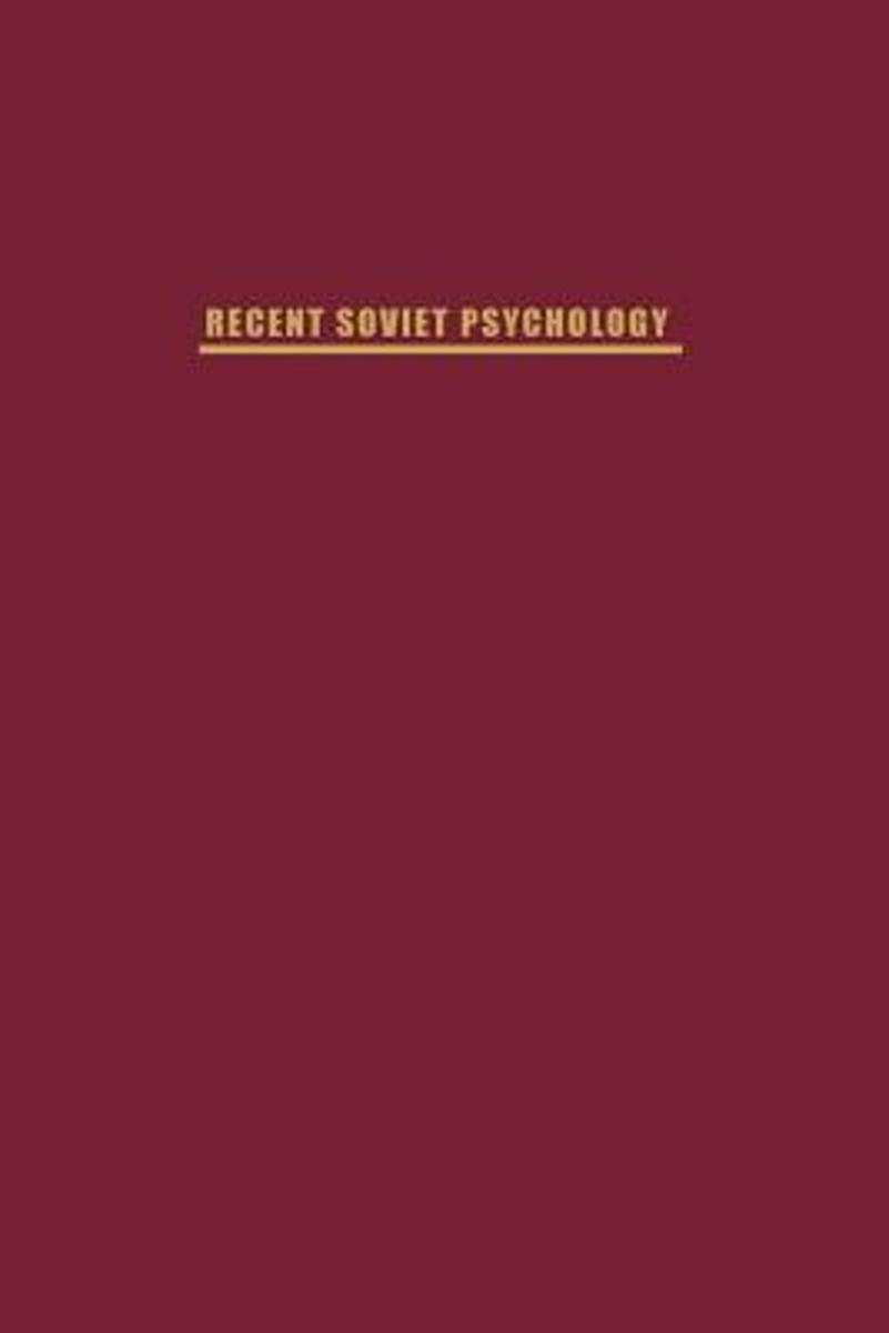 Recent Soviet Psychology