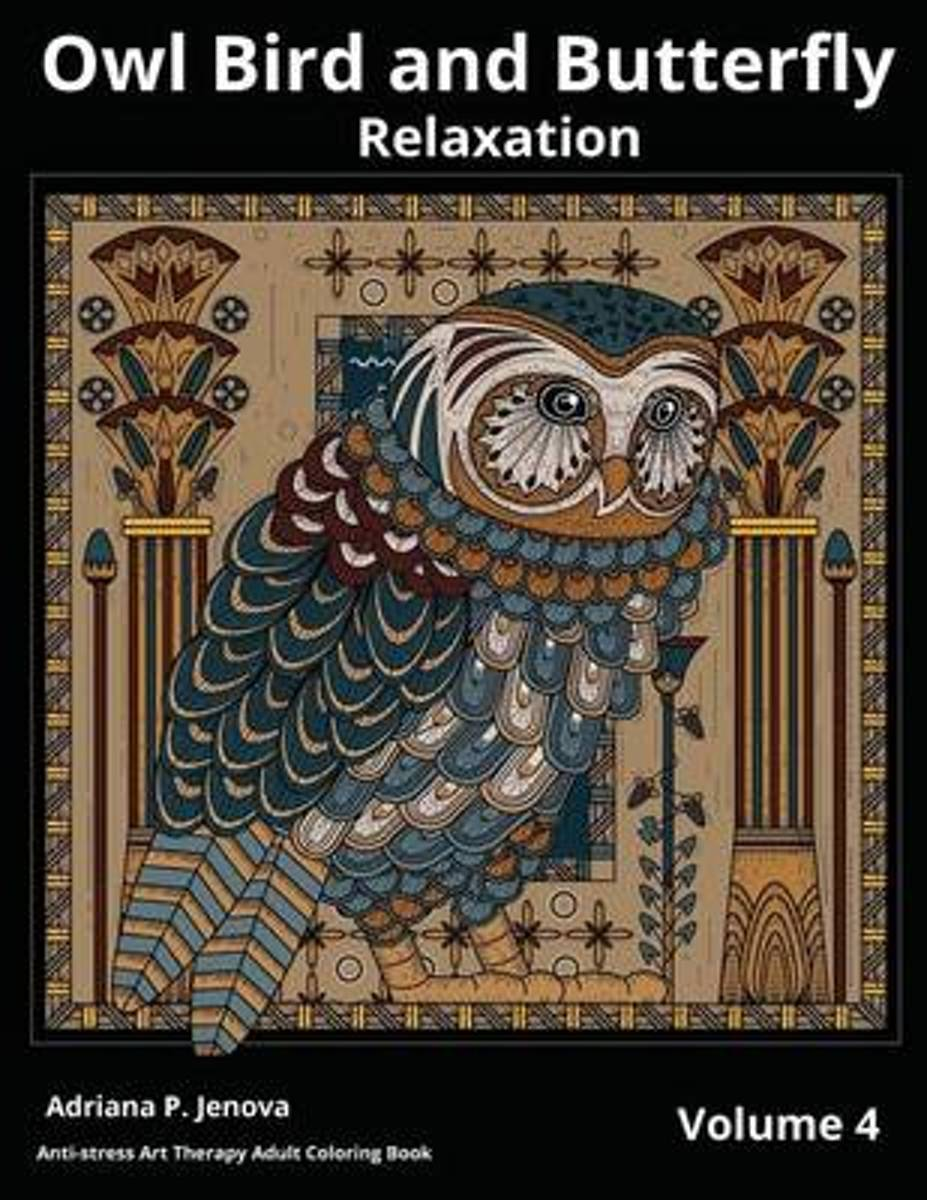 Owl Bird and Butterfly Coloring Books for Adults Relaxation
