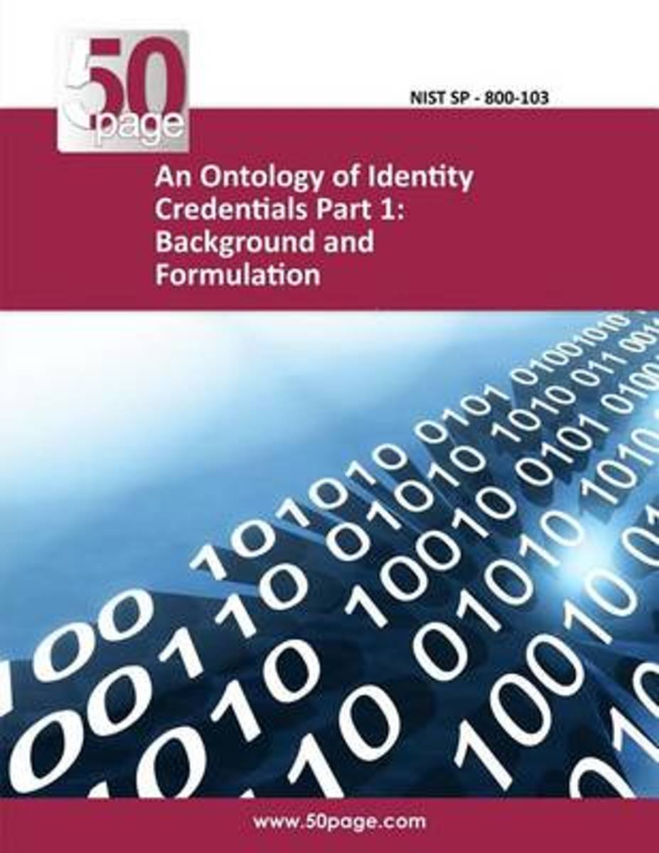 An Ontology of Identity Credentials Part 1
