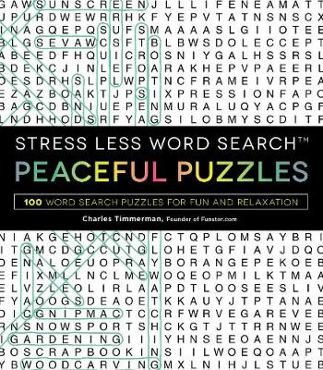 Stress Less Word Search - Peaceful Puzzles