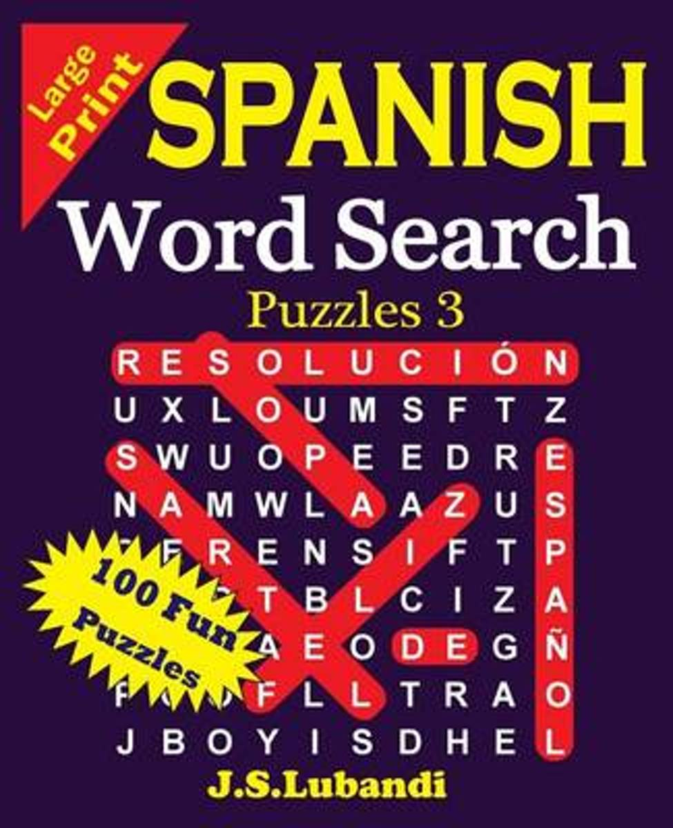 Large Print Spanish Word Search Puzzles 3