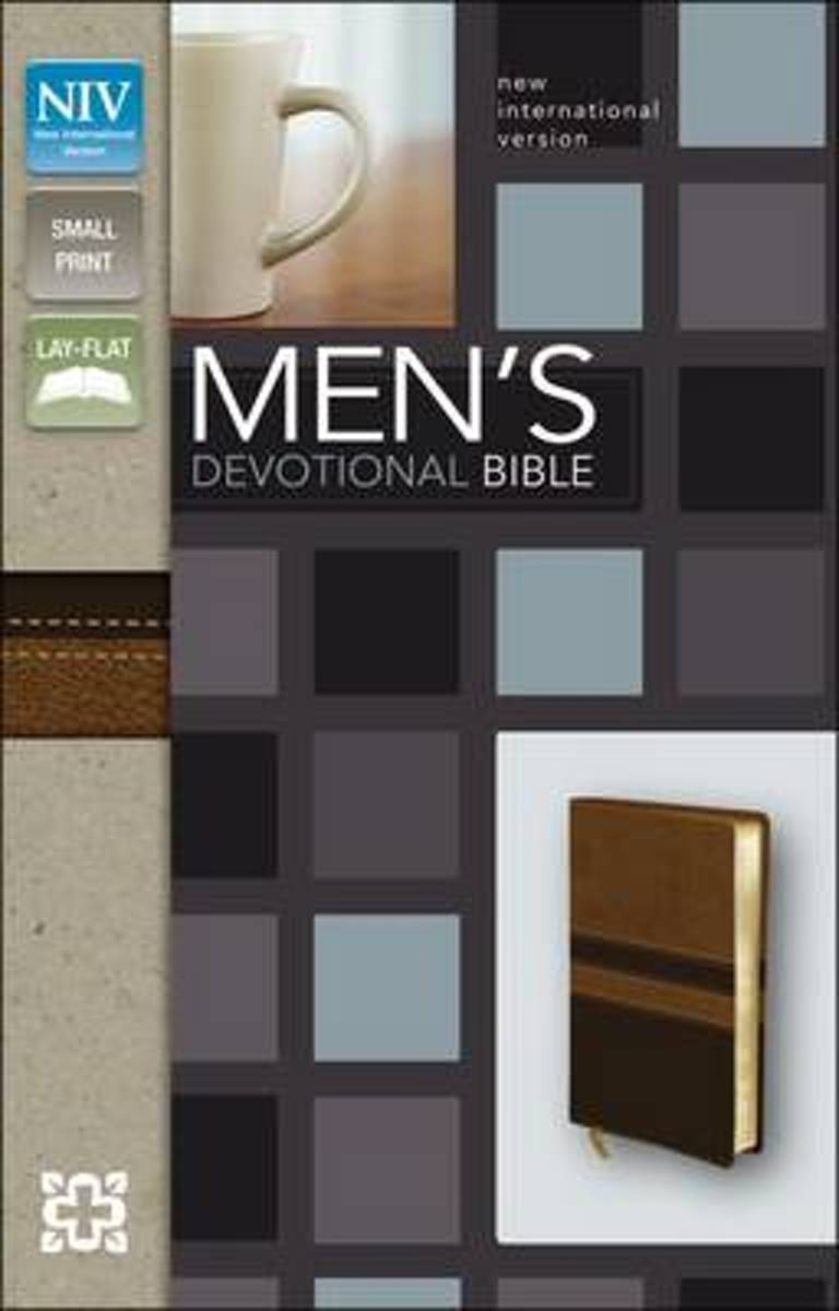 NIV, Men's Devotional Bible, Compact, Leathersoft, Black