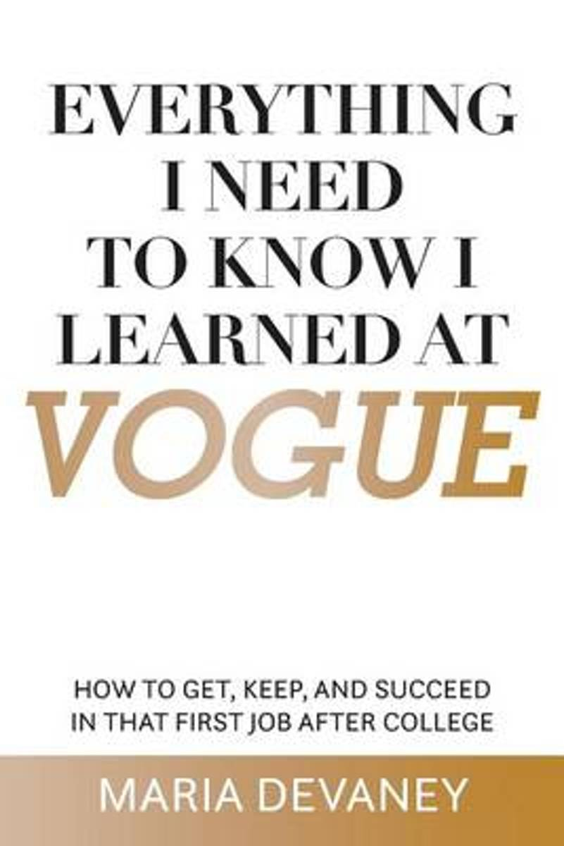 Everything I Need to Know I Learned at Vogue