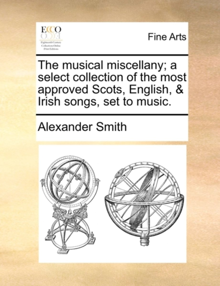 The Musical Miscellany; A Select Collection of the Most Approved Scots, English, & Irish Songs, Set to Music.
