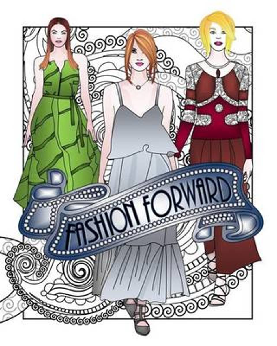Fashion Forward Adult Coloring Book