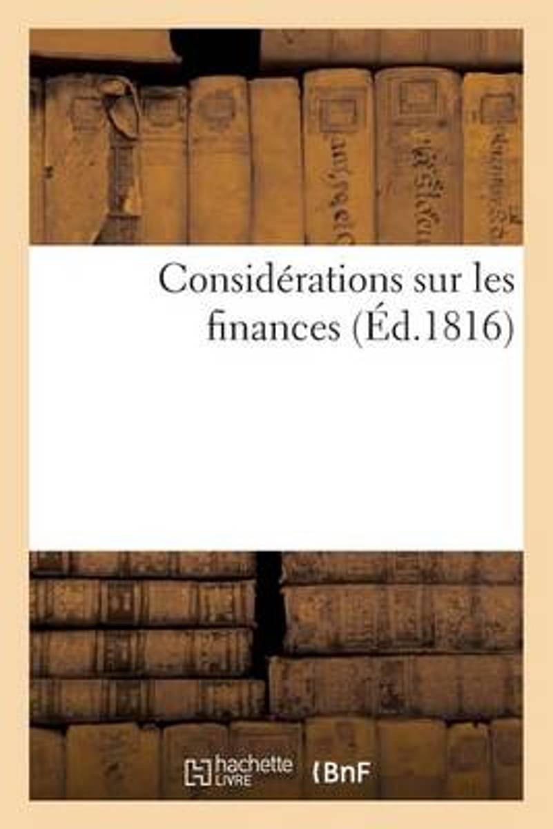 Consid�rations Sur Les Finances