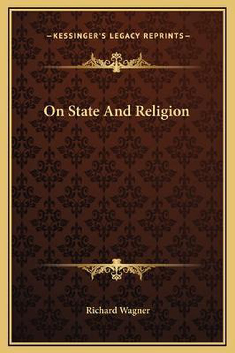 On State and Religion