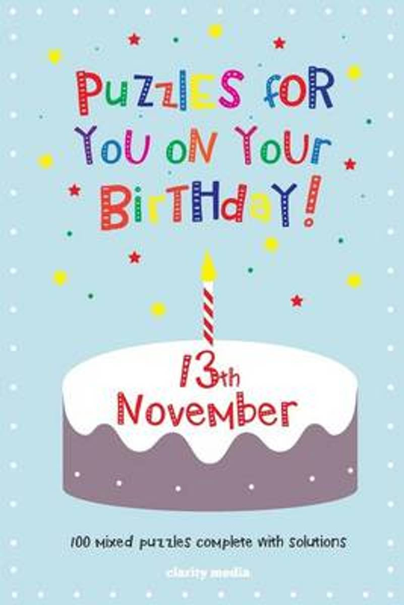 Puzzles for You on Your Birthday - 13th November