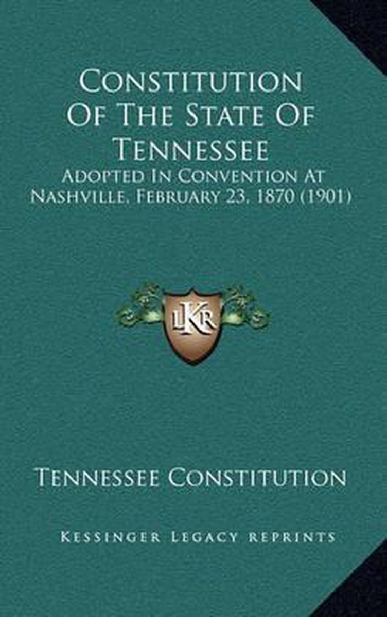 Constitution of the State of Tennessee